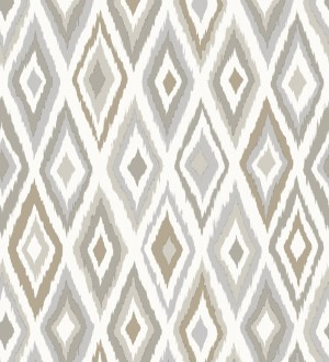 Papel pintado rombos modernos tonos grises y marrones estilo nórdico Scandinavian Folk 676987