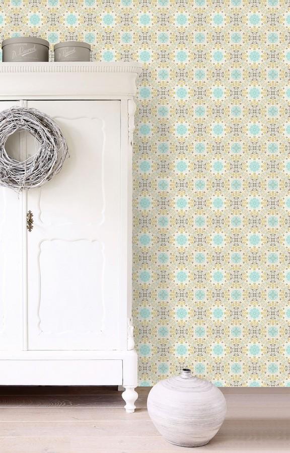Papel pintado azulejo árabe tunecino Tunisia Majestic 677011