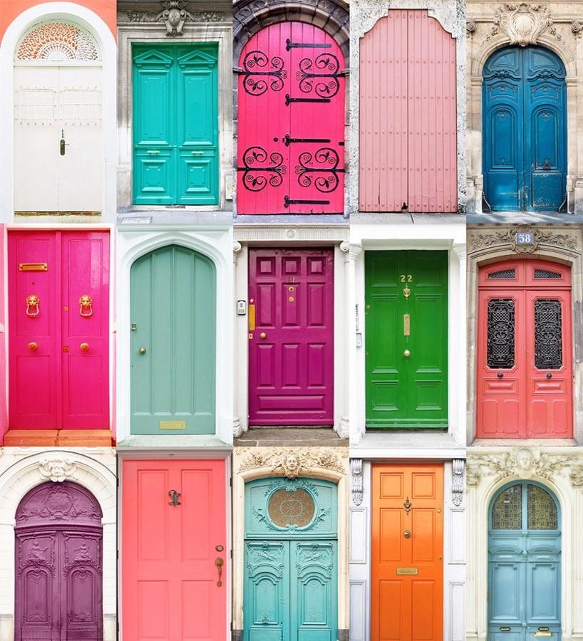 Papel pintado puertas de colores Dublin Houses 677013