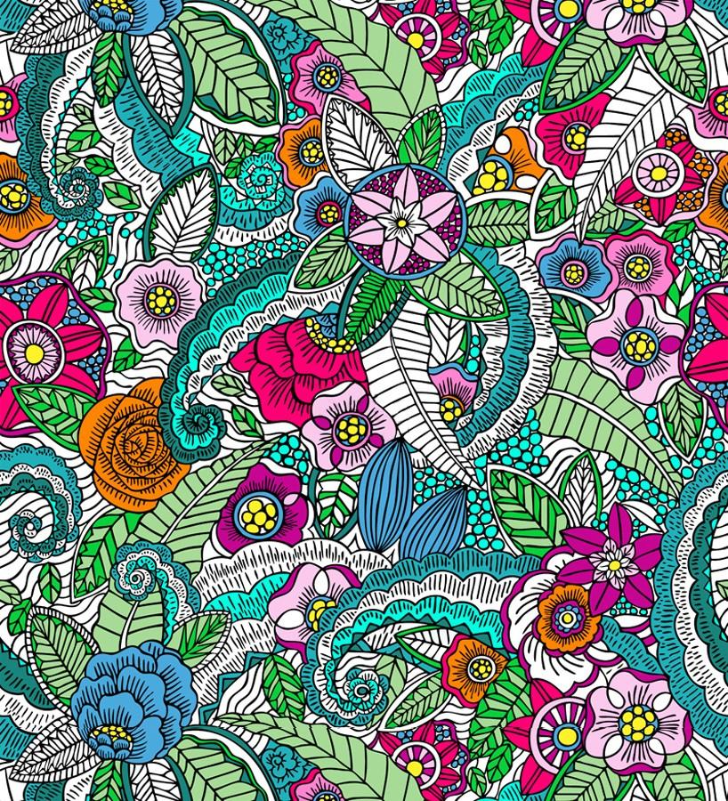 Papel pintado mandala exótico estilo tropical Copacabana Nature 677014