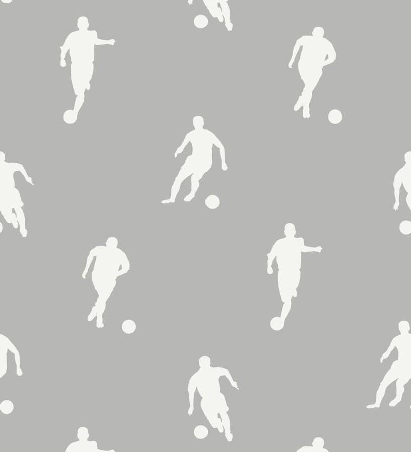 Papel pintado siluetas futbolistas fondo gris Bristol Players 677020