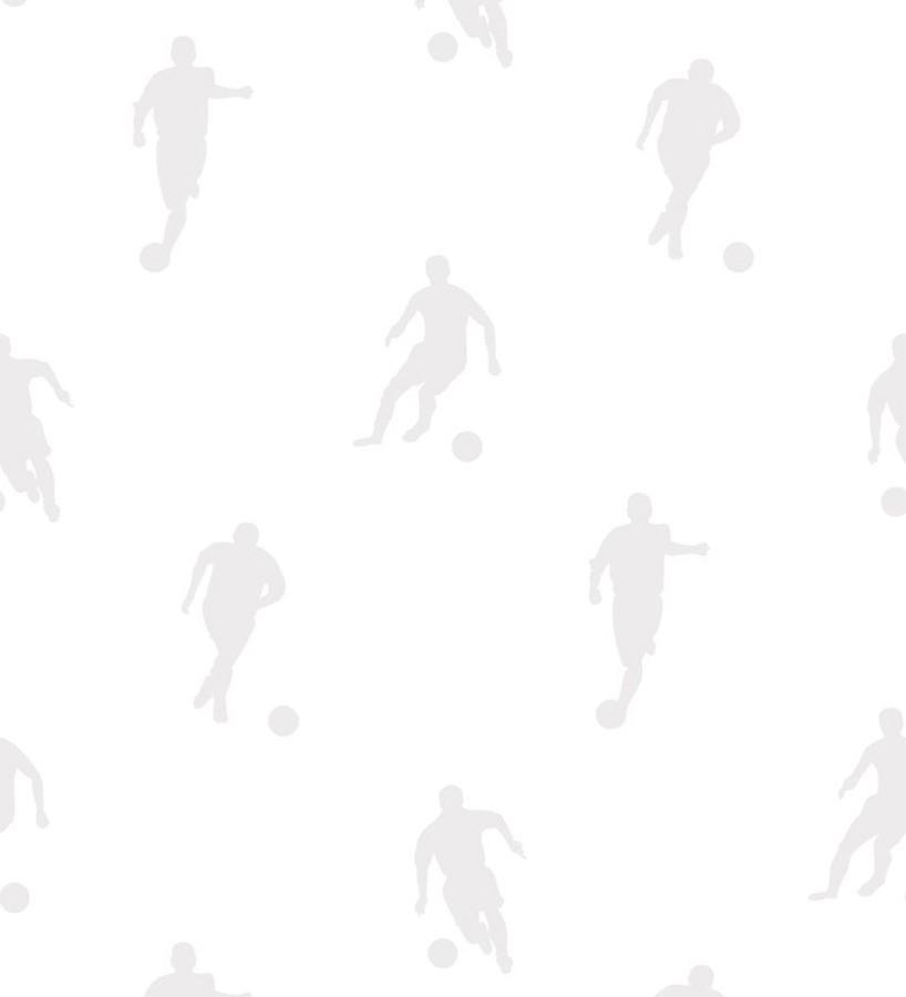 Papel pintado siluetas futbolistas fondo blanco Bristol Players 677021
