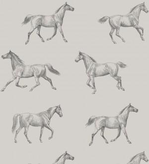 Papel pintado caballos de Glasgow fondo gris Glasgow Horses 677027