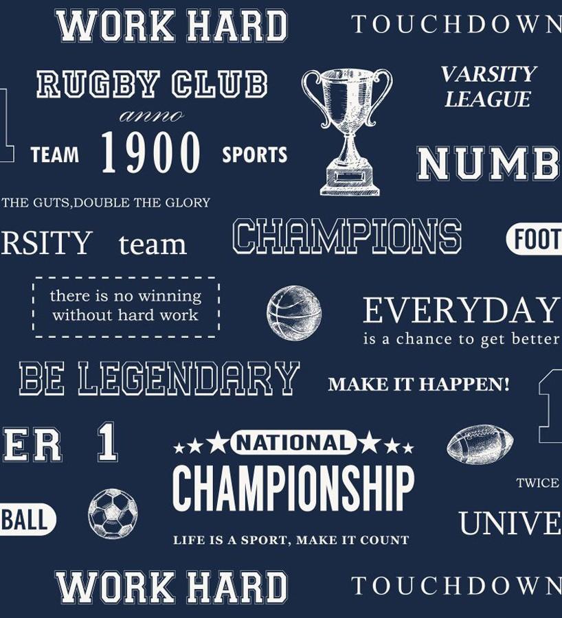 Papel pintado club de rugby fondo azul marino Rugby Club 677035