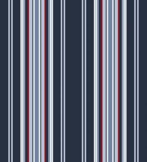 Papel pintado rayas desiguales tonos azules y rojos Raya Goodman 677043