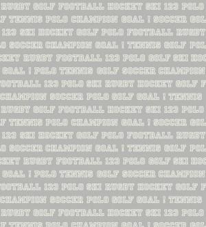 Papel pintado nombres de deportes fondo gris claro Champion Goal 677050