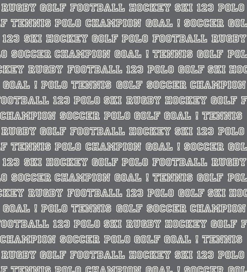 Papel pintado nombres de deportes fondo gris oscuro Champion Goal 677051