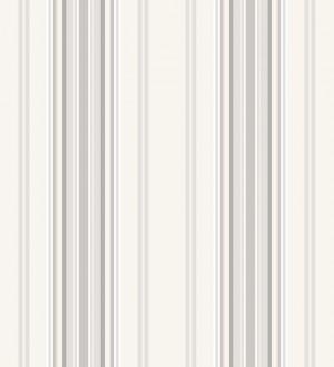 Papel pintado rayas desiguales tonos grises y blancos Raya Goodman 677053