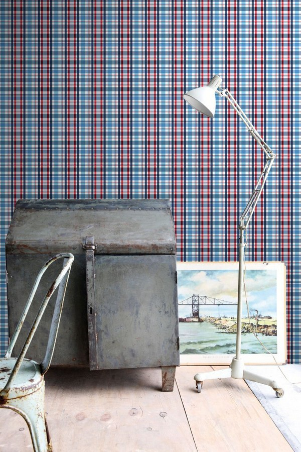 Papel pintado cuadros escoceses Goodman 677067