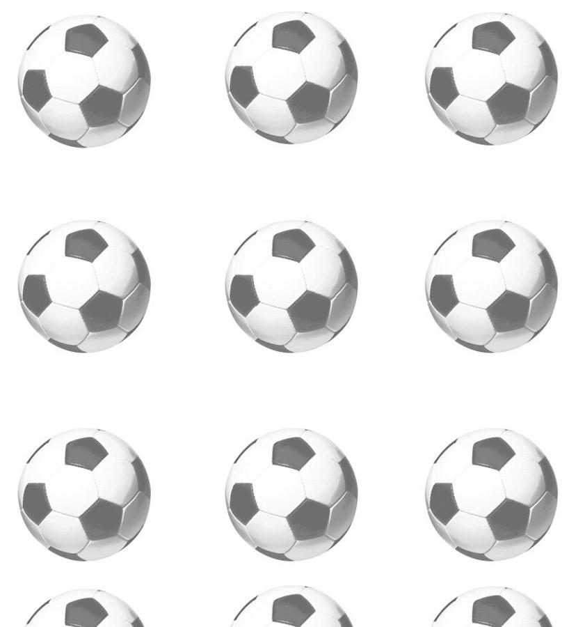 Papel pintado balones de fútbol fondo blanco Goal Square 677077