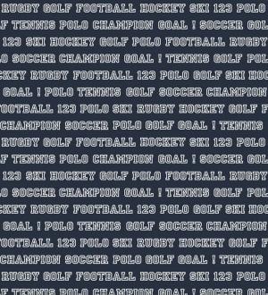 Papel pintado nombres de deportes fondo azul marino Champion Goal 677078