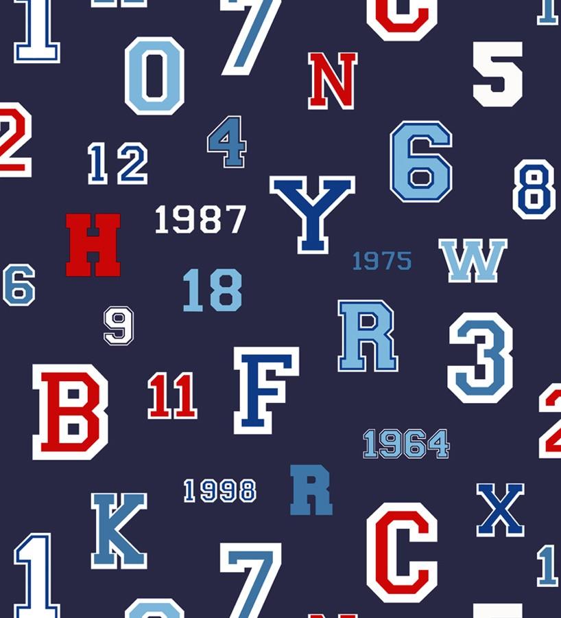 Papel pintado letras y números de equipos deportivos Team Numbers 677079