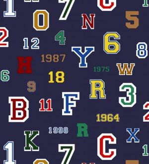 Papel pintado letras y números de equipos deportivos Team Numbers 677080
