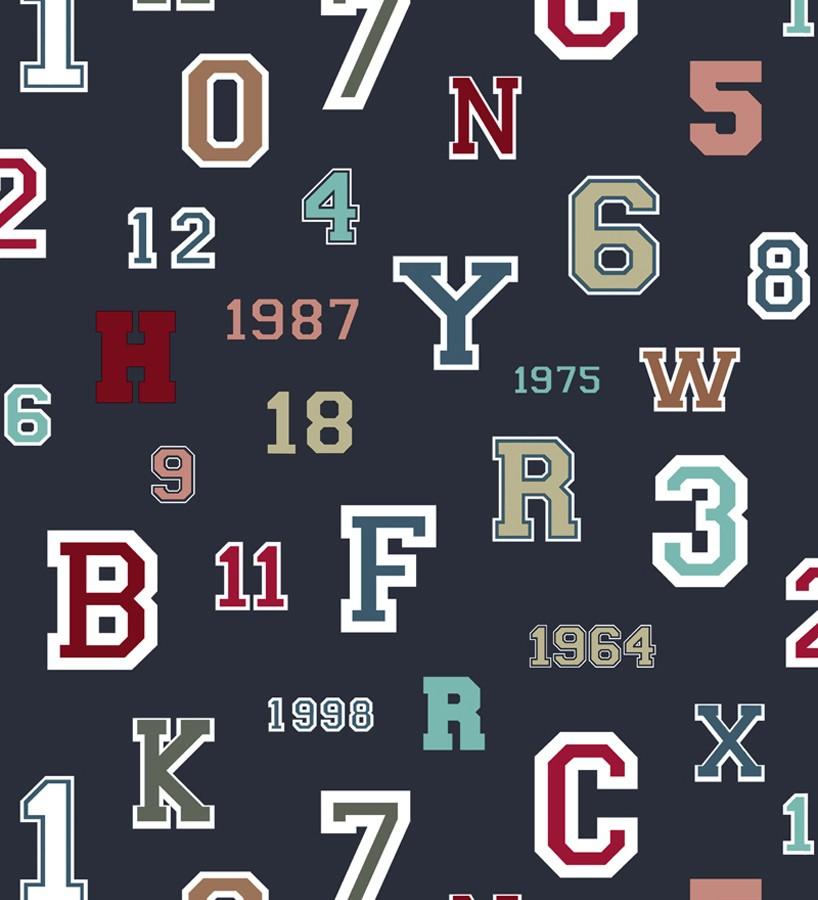 Papel pintado letras y números de equipos deportivos Team Numbers 677081