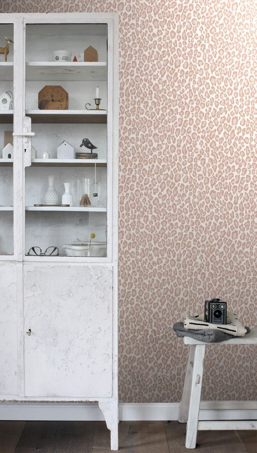 Papel pintado leopardo tonos rosa African Skin 677187