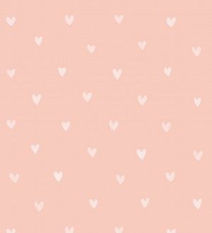 Papel pintado corazones tonos rosados Magic Hearts 677197
