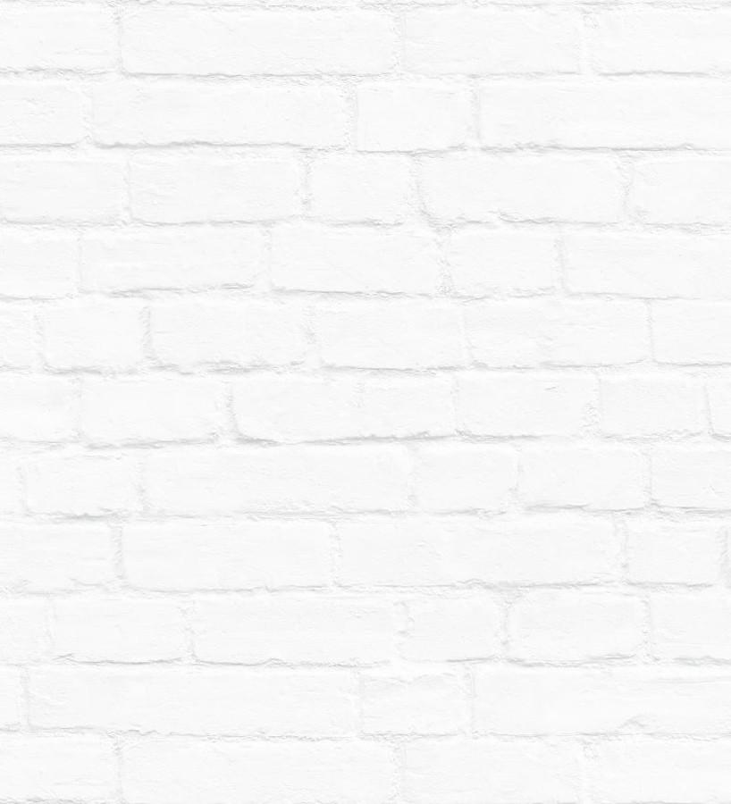 Papel pintado ladrillo blanco estilo nórdico Nassau Street 677203