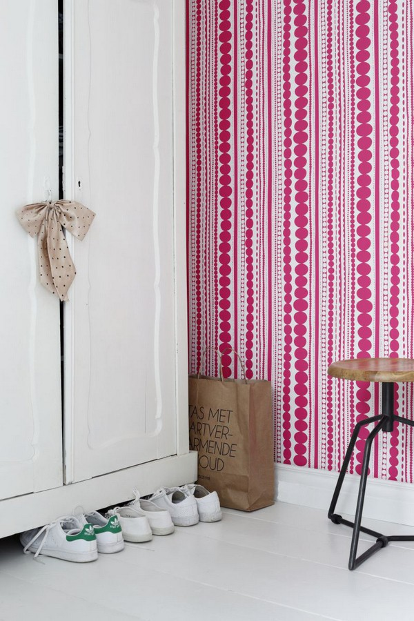 Papel pintado raya desigual estilo moderno Raya Megan Chic 677210