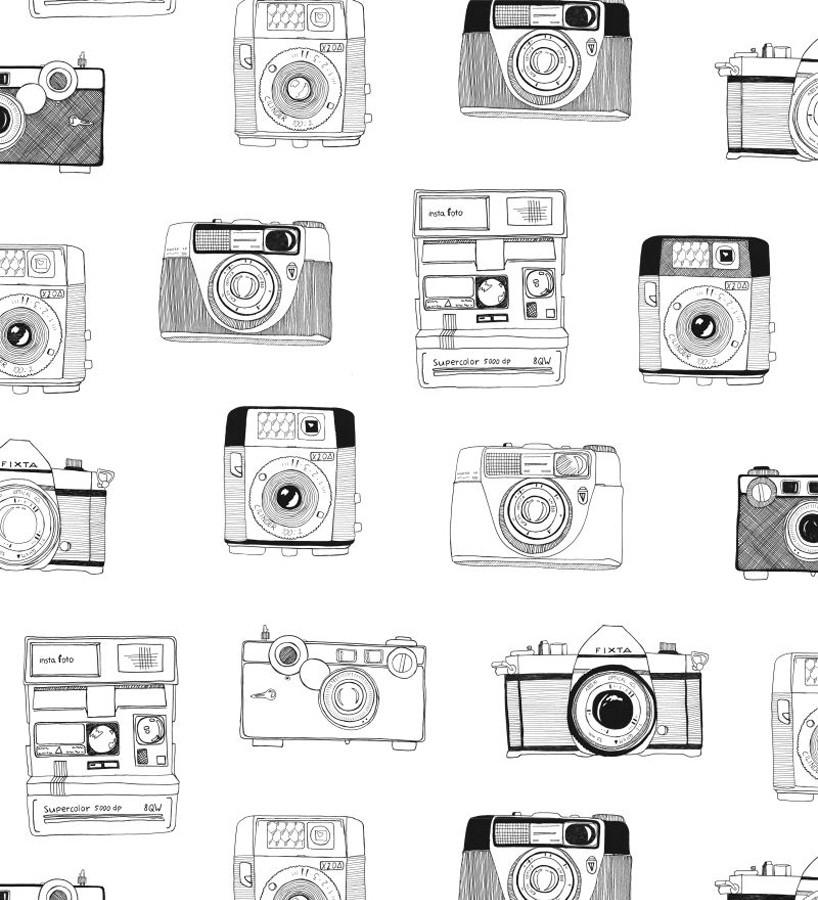 Papel pintado cámaras de fotos estilo vintage Vintage Pics 677216