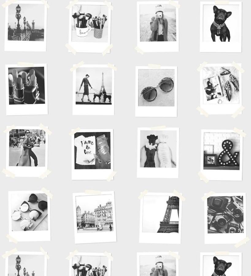 Papel pintado collage de fotos de París Sweet Souvenirs 677217