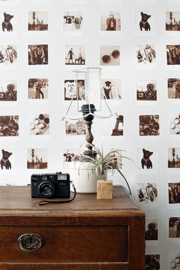 Papel pintado collage de fotos de París Sweet Souvenirs 677218