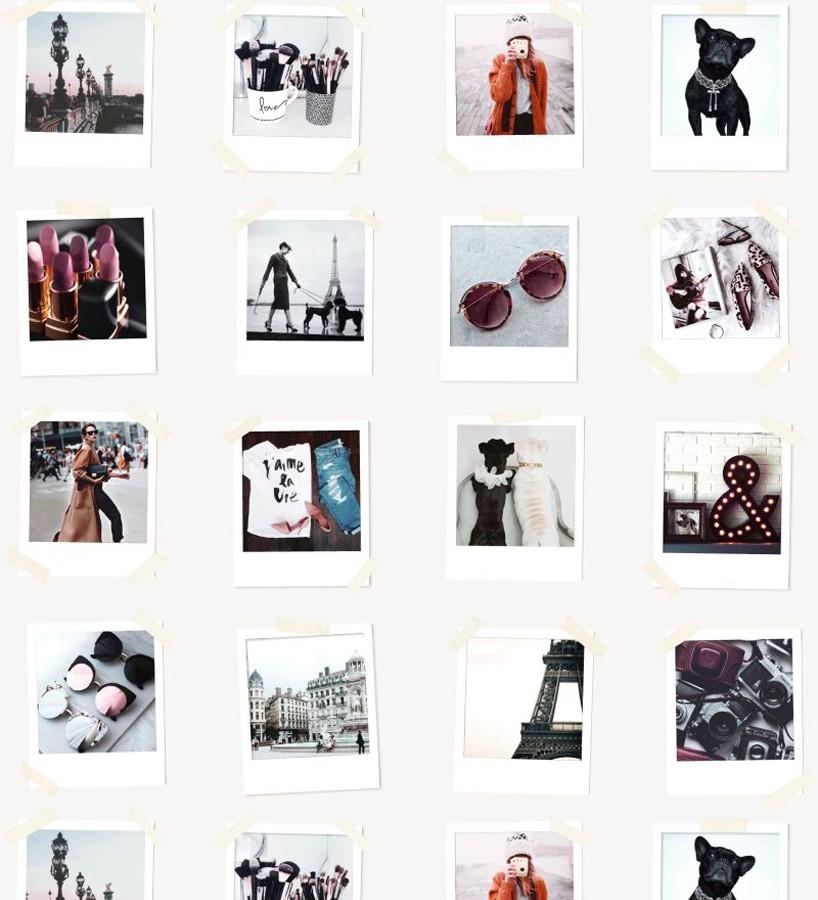 Papel pintado collage de fotos de París Sweet Souvenirs 677219