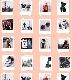 Papel pintado collage de fotos de París Sweet Souvenirs 677220