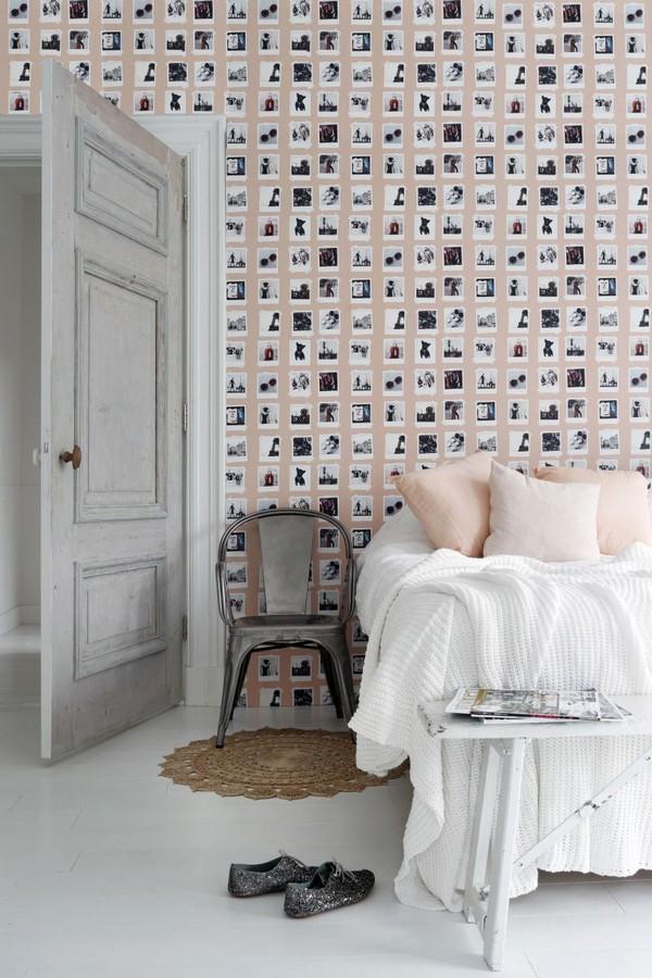 Papel pintado collage de fotos de París Sweet Souvenirs 677220