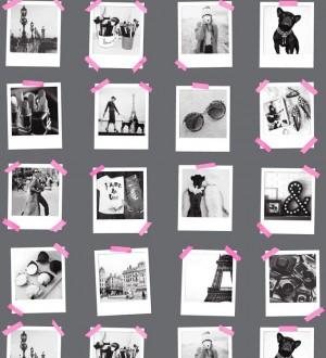 Papel pintado collage de fotos de París Sweet Souvenirs 677221