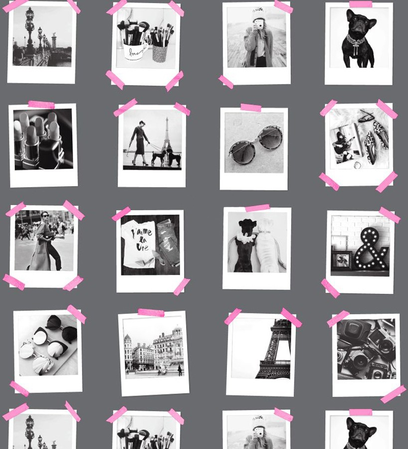 Papel pintado collage de fotos de París Sweet Souvenirs 677221