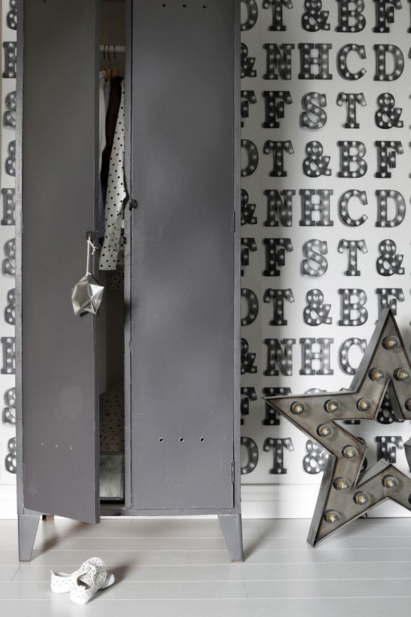 Papel pintado letras luminosas Modern Torch Letters 677222