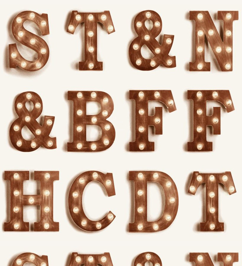 Papel pintado letras luminosas Modern Torch Letters 677223