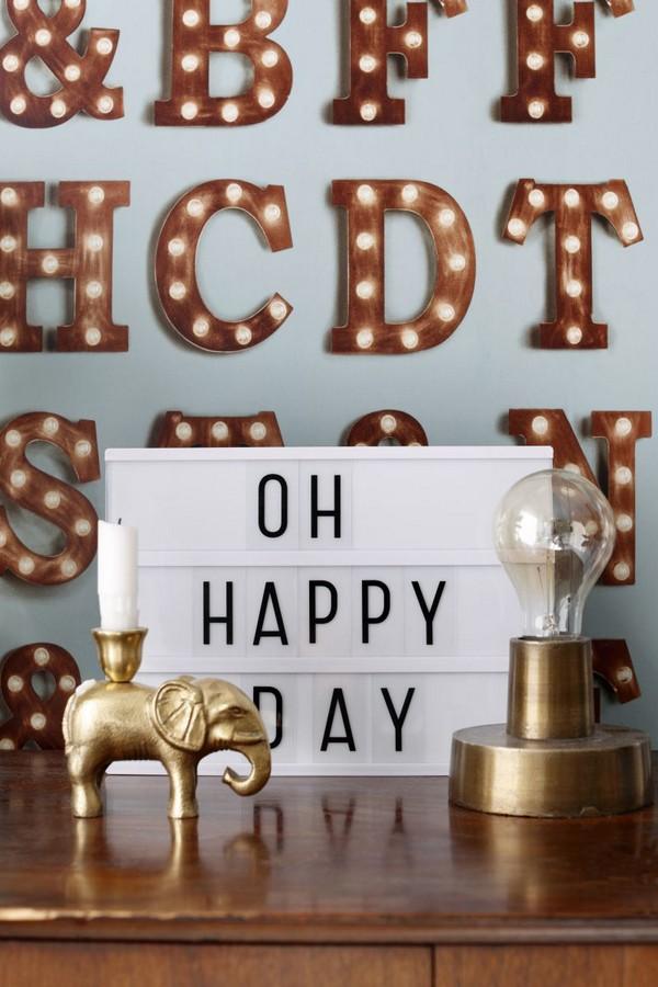 Papel pintado letras luminosas Modern Torch Letters 677224