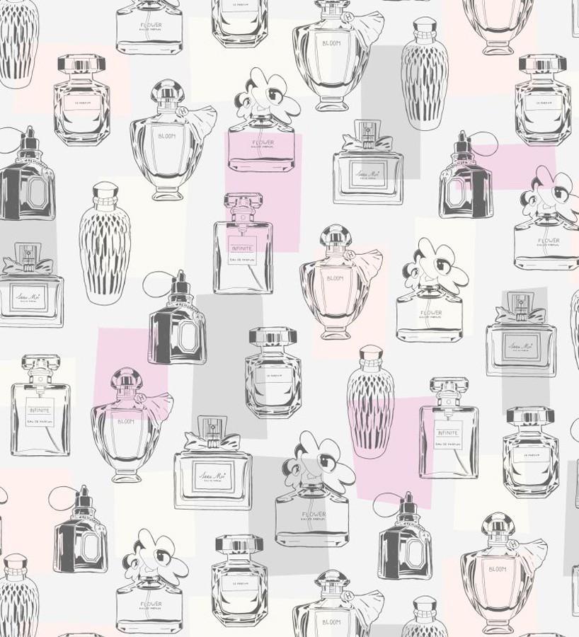 Papel pintado botes de perfumes vintage Infinite Bloom 677229