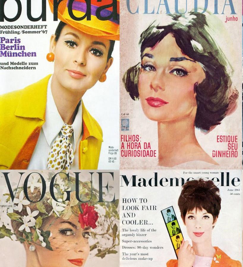 Papel pintado portadas revistas de moda vintage Women Rules 677243