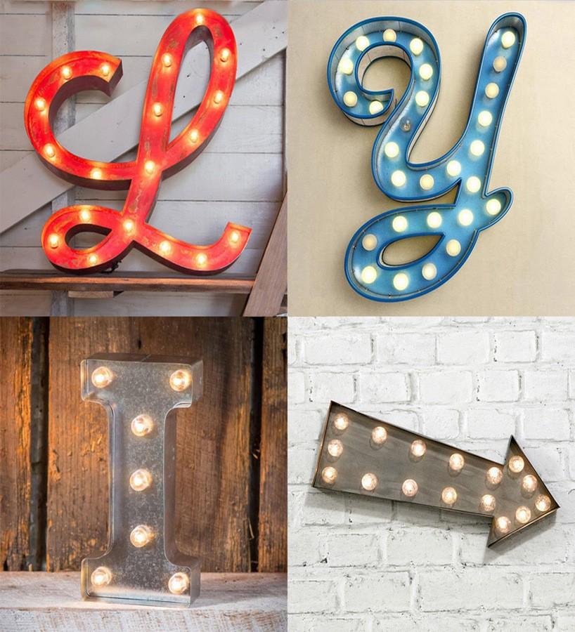 Papel pintado letras modernas luminosas Modern Torch Signs 677245