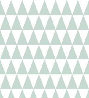 Papel pintado triángulos verde claro estilo nórdico Nordem Mountains 677261