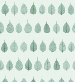Papel pintado hojas pequeñas verdes fondo verde claro estilo minimalista Danish Fall 677266