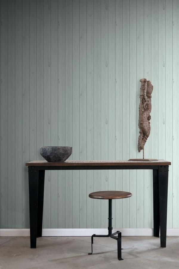 Papel pintado listones de madera estilo nórdico Sintra Wood 677269