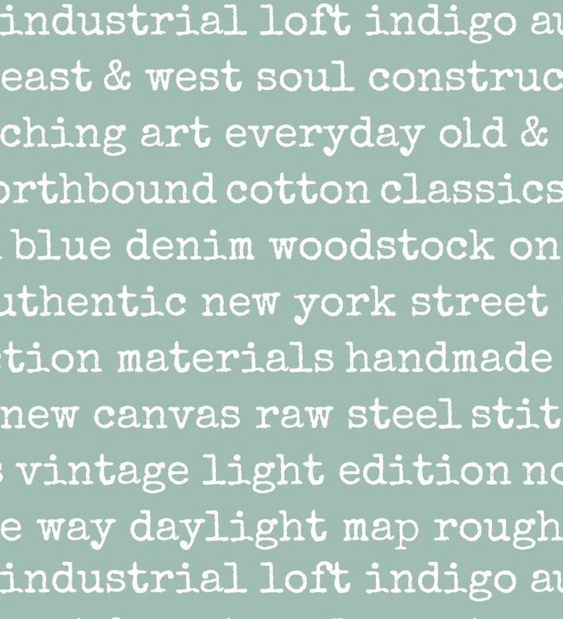Papel pintado palabras moda fondo verde Vintage Edition 677276