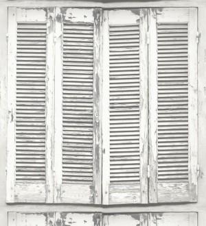 Papel pintado ventana de madera envejecida estilo vintage Sintra Windows 677284