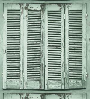 Papel pintado ventana de madera envejecida estilo vintage Sintra Windows 677285
