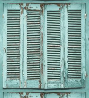 Papel pintado ventana de madera envejecida estilo vintage Sintra Windows 677286