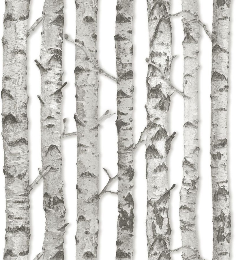 Papel pintado troncos de árboles estilo nórdico Baltic Hills 677291