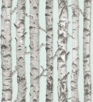 Papel pintado troncos de árboles estilo nórdico Baltic Hills 677292
