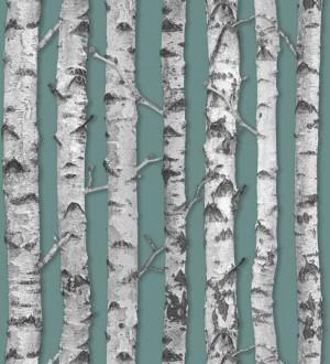 Papel pintado troncos de árboles estilo nórdico Baltic Hills 677293
