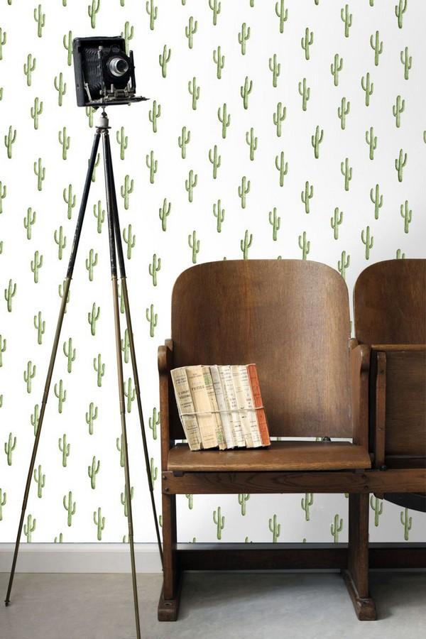 Papel pintado plantas de cactus Western Land 677301