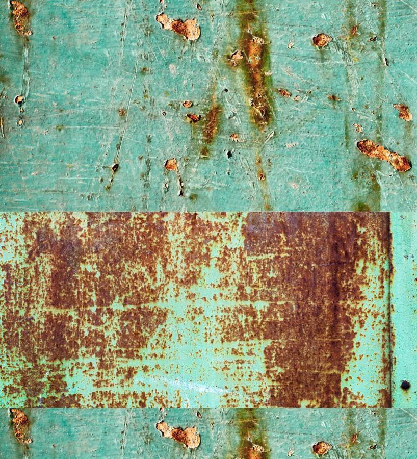Papel pintado efecto chapa oxidada Marshall District 677314