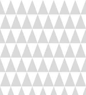 Papel pintado triángulos gris claro y blanco estilo nórdico Nordem Mountains 677329