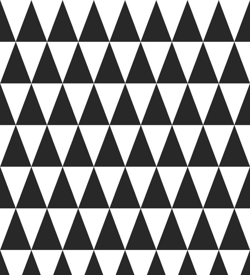 Papel pintado triángulos blanco y negro estilo nórdico Nordem Mountains 677330